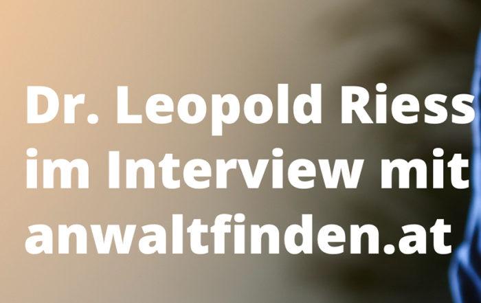 Dr. Riess Rechtsanwälte - Interview Dr. Leopold Riess - Scheidung während des Hausbaus